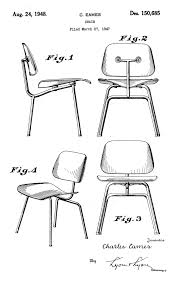 eames patent plywood chair patent design pinterest eames