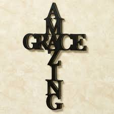 crosses for wall amazing grace word cross wall