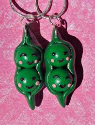 2 peas in a pod keychain best friend keychain on the hunt