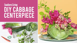 flower centerpieces how to make a floral cabbage centerpiece youtube