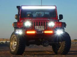 jeep wrangler tj light bar jeep wrangler tj 1997 2006 led light bar with mounting brackets