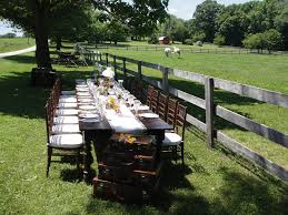 table and chair rentals in md vintage party rentals farm tables wedding vintage affairs