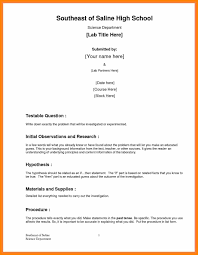 formal lab report template 9 formal lab report template references sheet