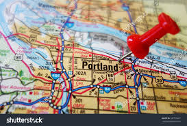 Downtown Portland Map by Portland Oregon Stock Photos