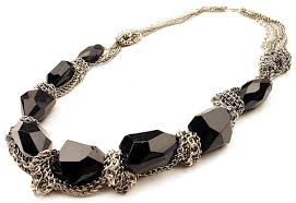 black necklace stone images Black stone layered chain necklace by next wishes fashion jewelry jpg