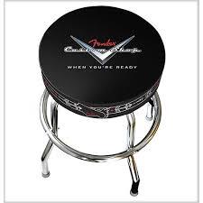 shop bar stool fender 24 in custom shop pinstripe barstool guitar center