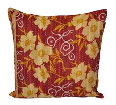 Purple Sofa Pillows by Indian Handmade Bedroom Cushions Vintage Kantha Throw Pillows For Sofa