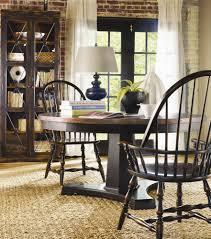 decorating round wooden table plus wooden chairs by sprintz