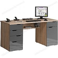 Computer Desks Calgary Calgary Computer Desk Oak Grey Static Computer Desks