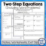 equations stations activity one and two step includes word