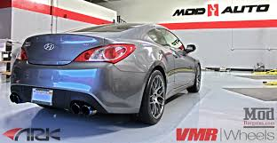 2016 hyundai genesis coupe sports cars genesis coupe on vmr wheels v710 with ark exhaust