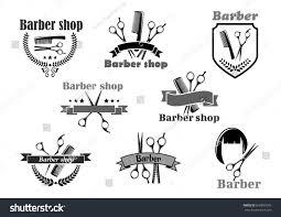 Barber Shop Floor Plan Barber Shop Hairdresser Salon Icons Vector Stock Vector 609803189
