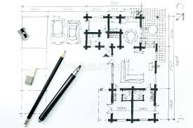 home plan sketch and drawing tools stock illustration image