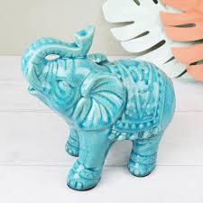 crackled ceramic elephant ornament lisa angel