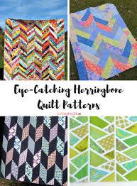 Bookshelf Quilt Pattern 9 Eye Catching Herringbone Quilt Patterns Favequilts Com