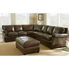 austin top grain leather sectional with ottoman hton court top grain leather sectional and ottoman crafts
