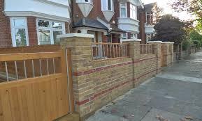 beautiful front garden brick wall designs 17 best ideas about