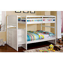 white staircase bunk bed twin full stair stepper with twin trundle