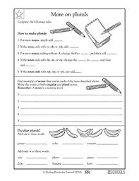 3rd grade writing worksheets perfecting plural nouns greatschools