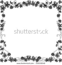 historical frame gray floral ornaments square stock vector