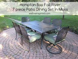 target patio heater patio hampton bay fall river 7 piece patio dining set home