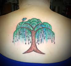willow tree on back henna willow tree