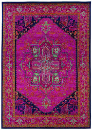 traditional oriental rug machine woven pink navy polypropylene