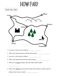map scale worksheet free worksheets library download and print
