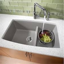 blanco metallic gray sink blanco precis undermount composite 33x18x9 5 0 hole double bowl