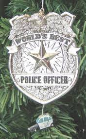 thin blue line with badge and id number ornament on etsy 7 00