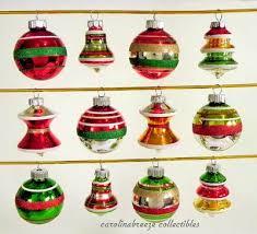 12 radko shiny brite mini ornament assorted shapes bells trees