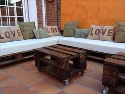 comment faire un canapé en realiser salon de jardin en palette idées décoration intérieure