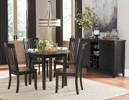 homelegance three falls 5 piece dining set with round drop leaf