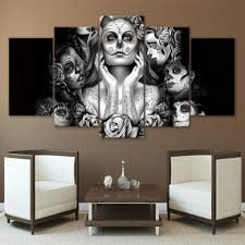 day of the dead face paint framed wall canvas skullflow day of the dead face paint framed wall canvas