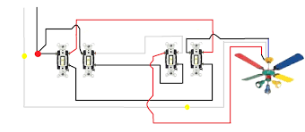 4 way switch with power feed via the light how to wire a best