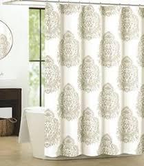 Luxury Shower Curtain White Cotton Nicole Miller Luxury Cotton Blend Shower Curtain Silver Gray White