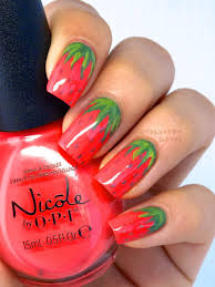 strawberry manicure strawberry nail art design the happy sloths