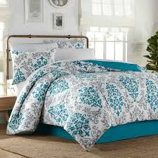 Gray And Turquoise Bedding Bedroom White Queen Size Comforter Coral Comforter Set Grey