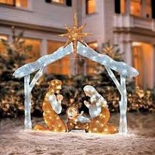 outdoor nativity sets holy family baby jesus and yard decorations