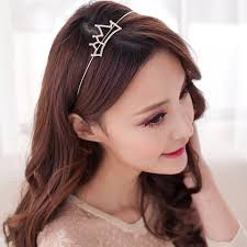 hair bands for women simple rhinestoned openwork crown shape hairband for women crown