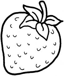 sweet strawberry fruit coloring pages for kids by printable
