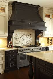 kitchen black wooden stove hoods design ideas with granite