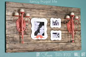 wood frame wall decor diy faux barn wood wall