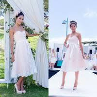 wholesale casual tea length beach wedding dresses buy cheap