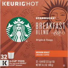 starbucks breakfast blend medium roast ground coffee k cup pods