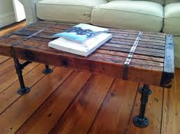 wood table with metal legs cheap and practical coffee tables made of reclaimed wood