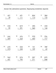 subtraction without regrouping worksheets grade 3 practice three digit subtraction with these free math worksheets