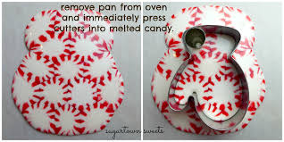 sugartown sweets melted peppermint ornaments mittens