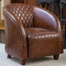 Leather And Wood Chair Leather Chairs You U0027ll Love Wayfair