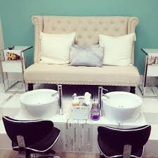 pedicure station at m nails studio sola salons park ridge il